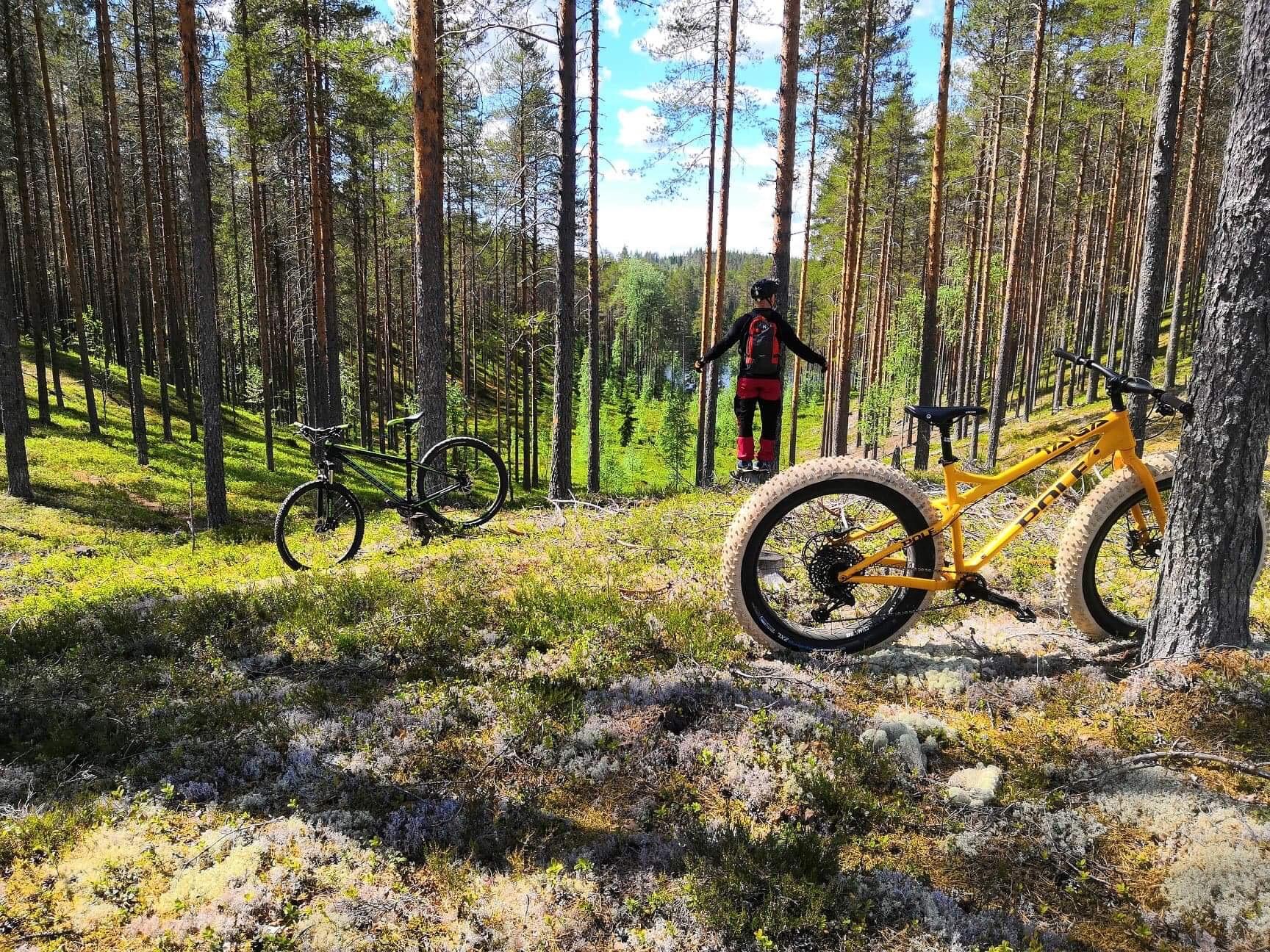 Ruunaan retkeilykeskus pyöräily, fatbiking