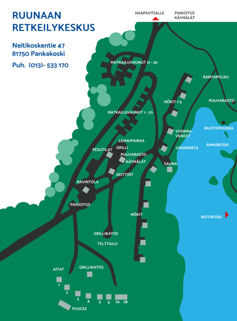 Ruunaan retkeilykeskus kartta